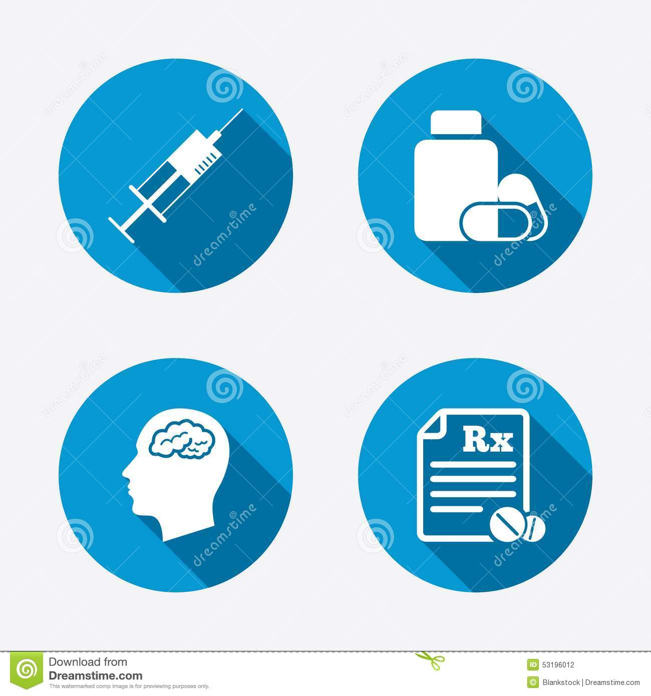 Medicine icons tablets bottle brain rx stock vector medicine icons tablets bottle brain rx buycottarizona