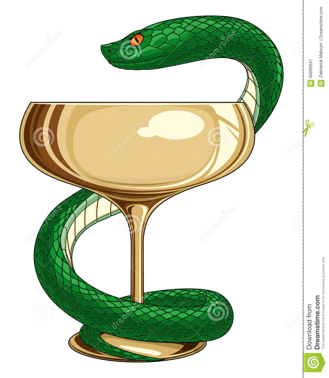 medicine and pharmacy snake stock vector illustration of