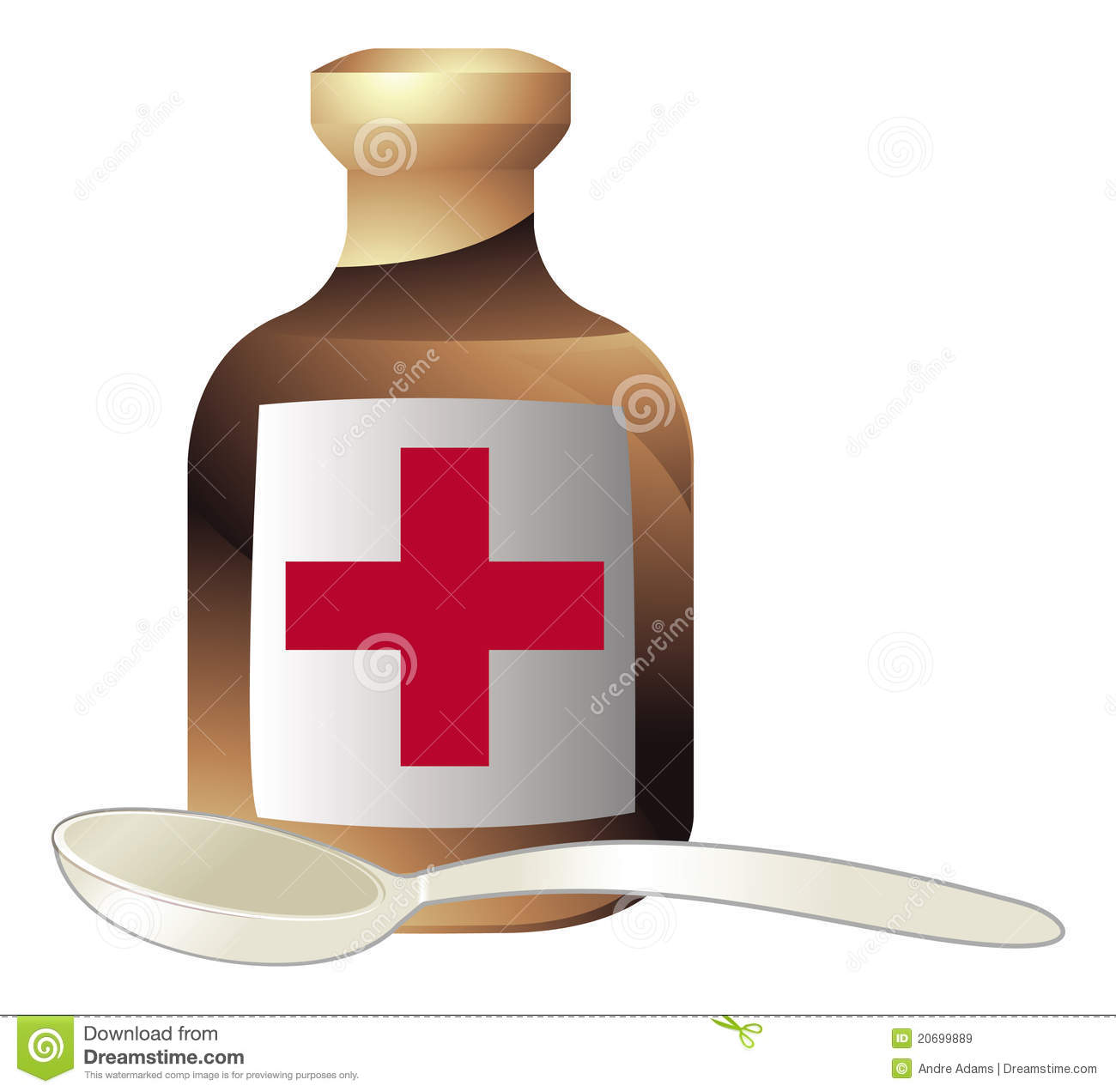 Medicine And Spoon Royalty Free Stock Images - Image: 20699889
