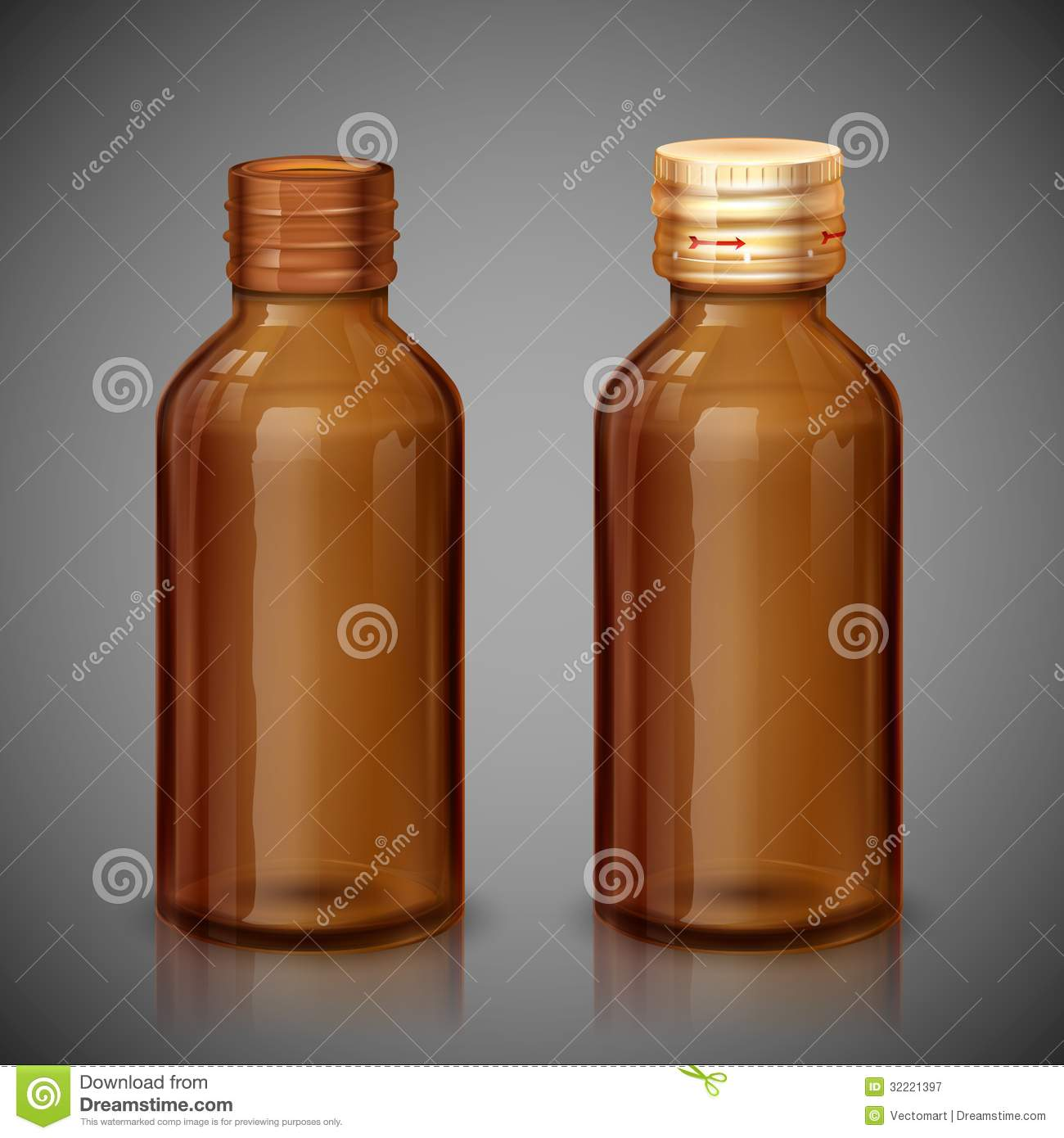 Medicine Syrup Bottle Royalty Free Stock Photography