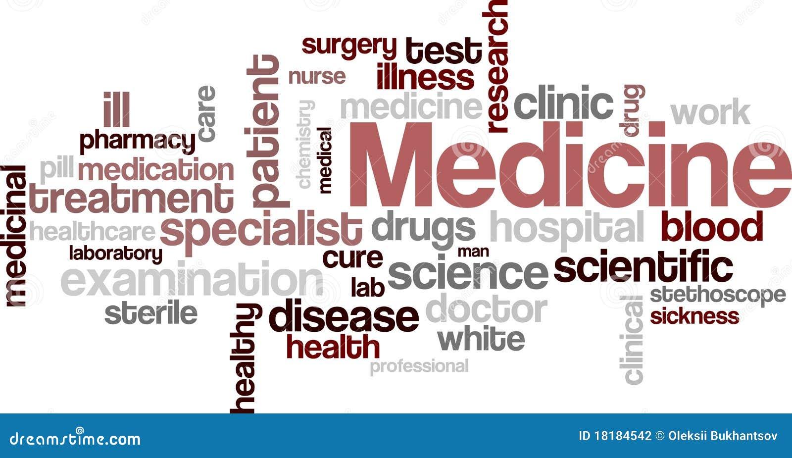 medicine wordcloud stock vector  illustration of cloud