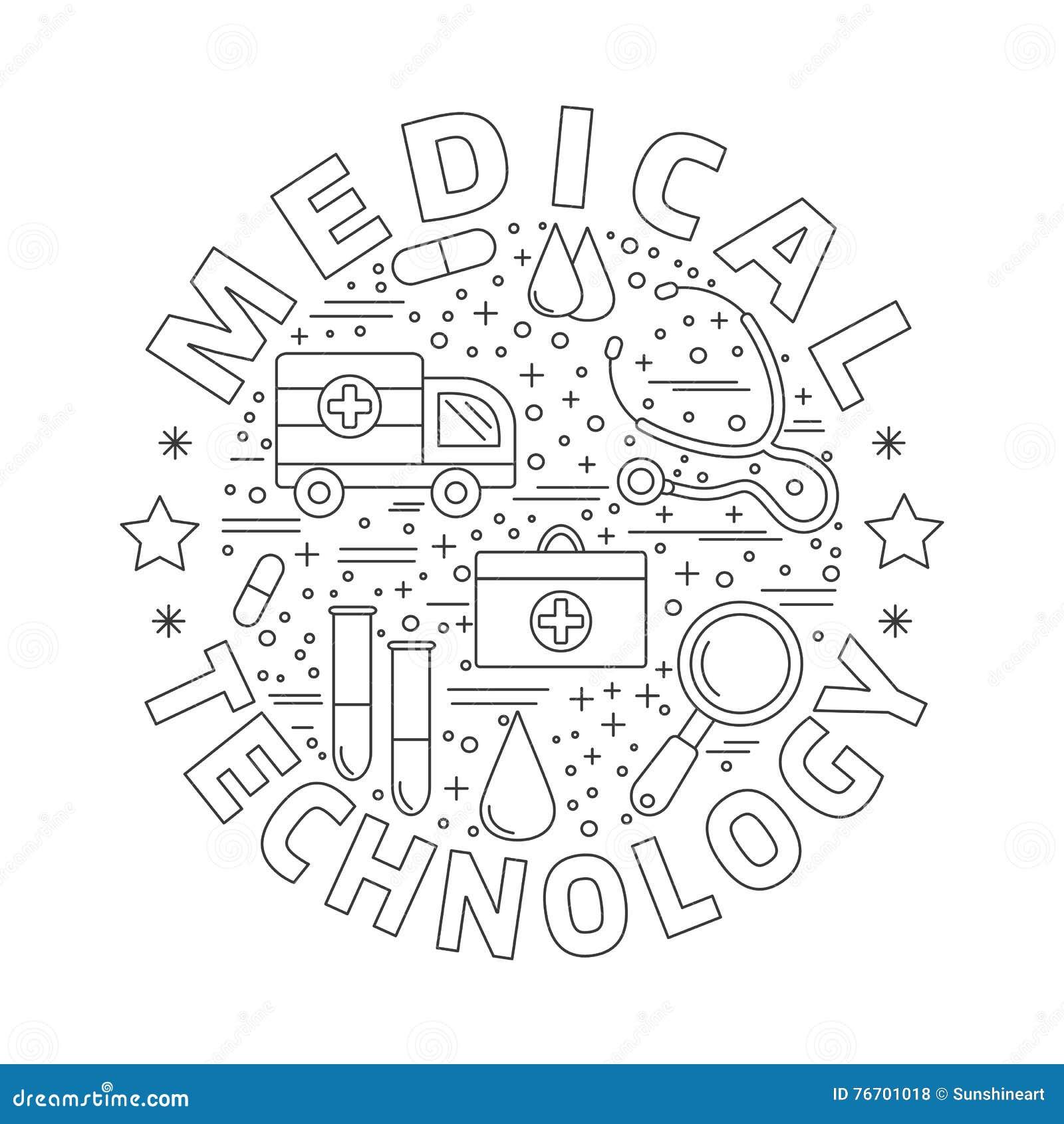 Medicinsk diagnostik, begrepp för grafisk design för undersökning