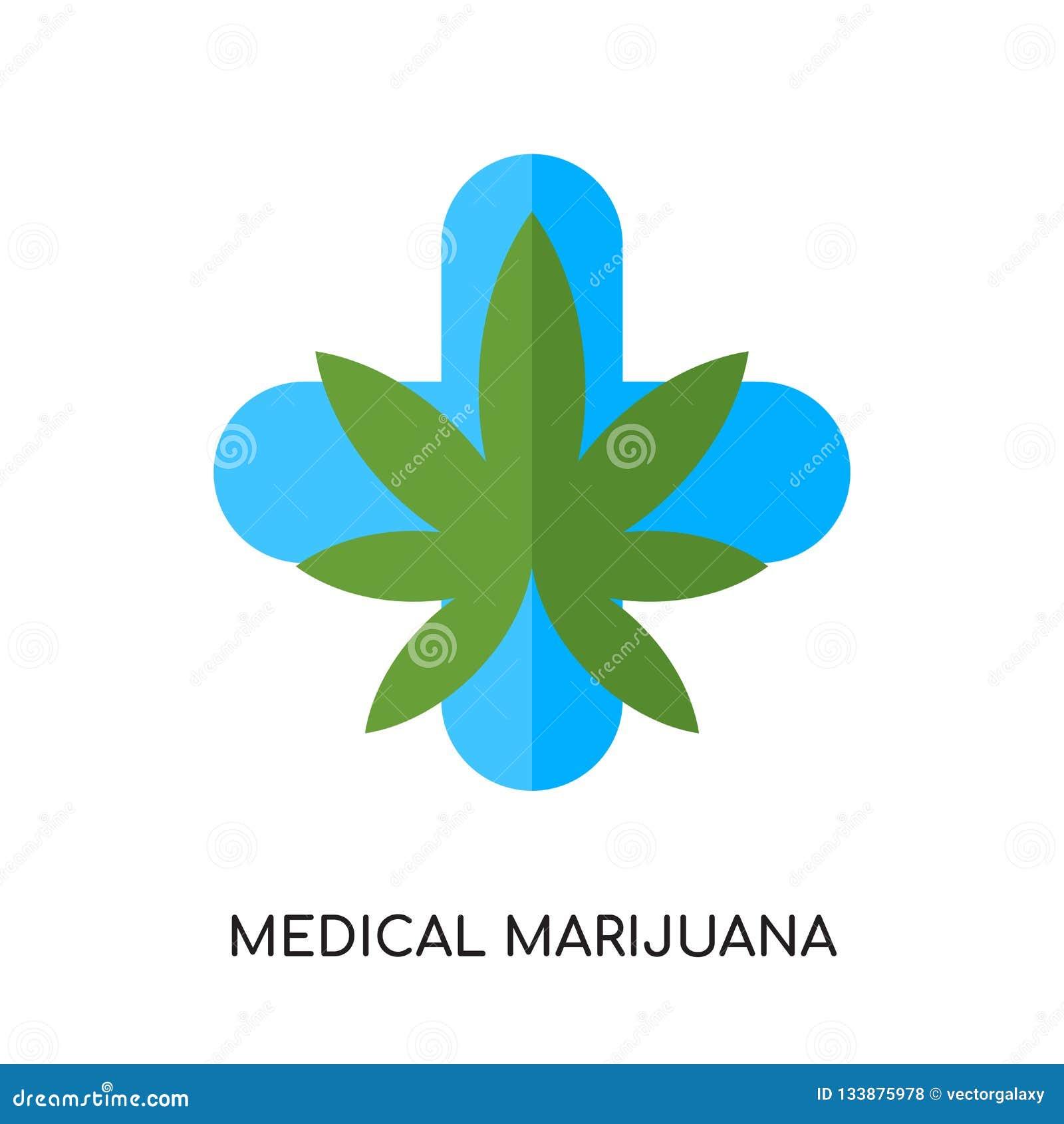 Medicinsk marijuanalogo som isoleras på vit bakgrund för din rengöringsduk