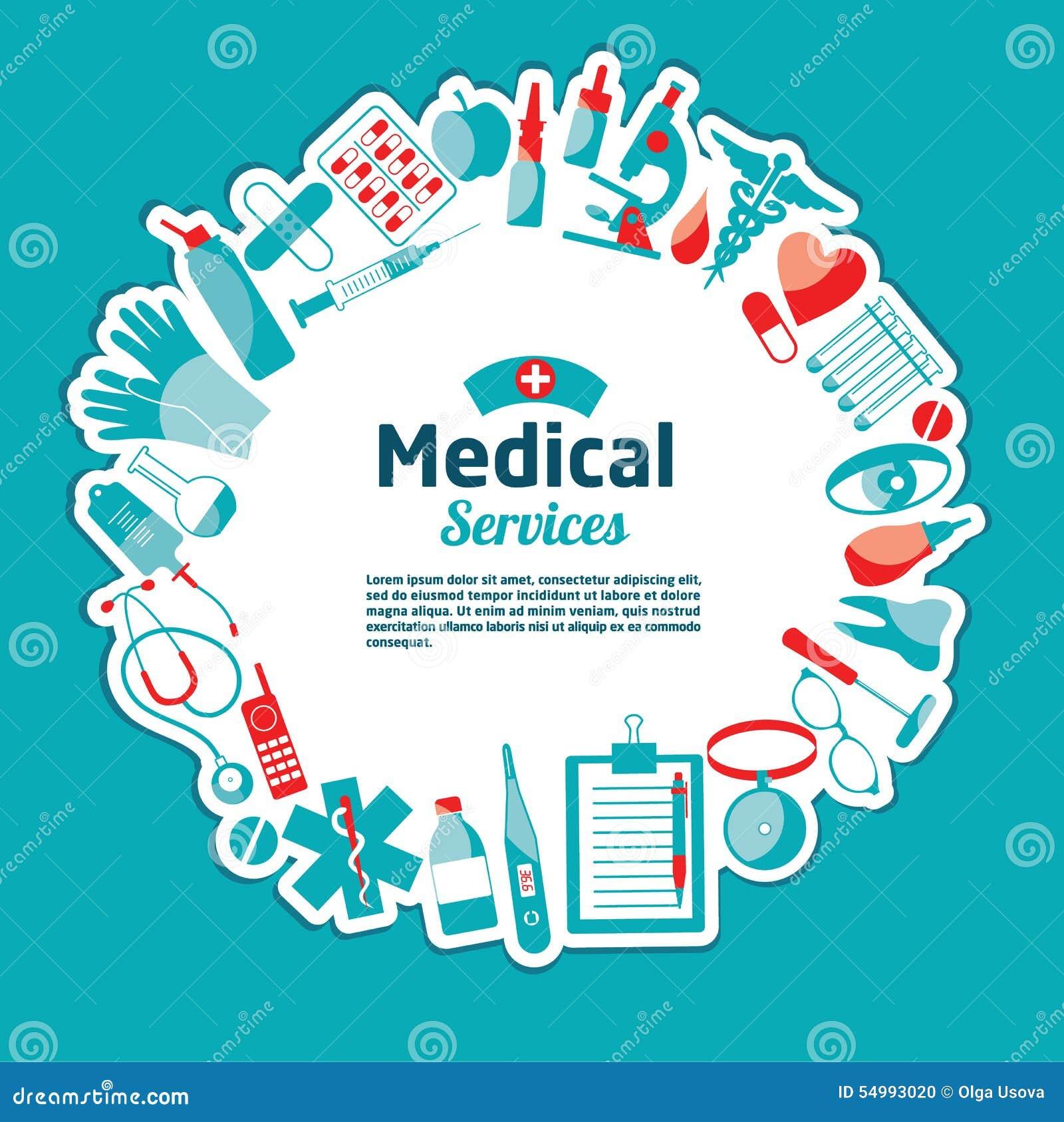 Medicinsk vektorillustration av hjälpmedel