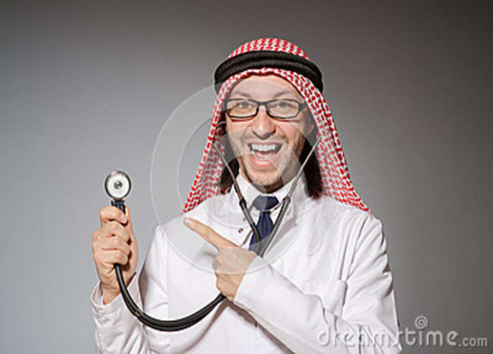 Medico arabo divertente