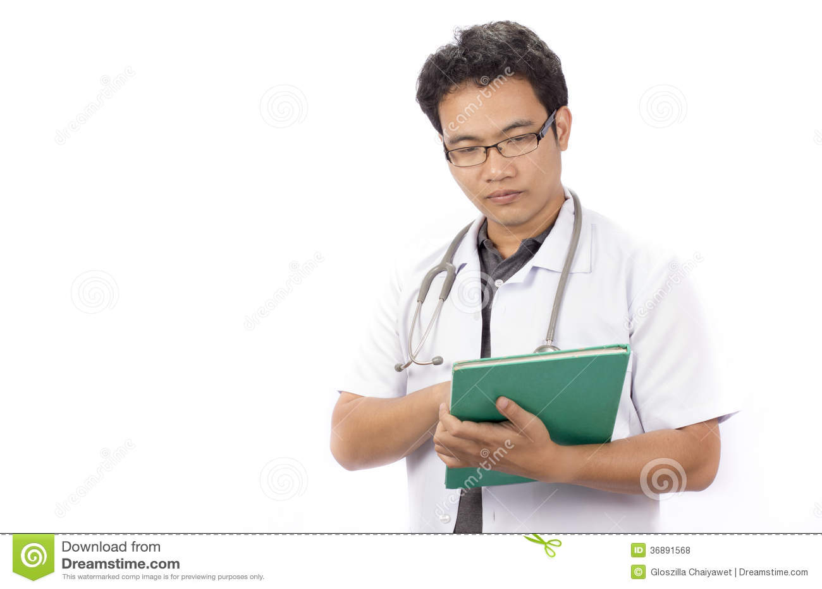 Download Medico Che Usando Una Cartella Fotografia Stock - Immagine di pratica, medicina: 36891568