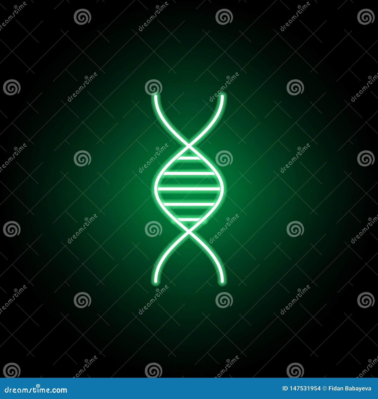 Medico, icona del DNA nello stile al neon Elemento dell illustrazione della medicina I segni e l icona di simboli possono essere