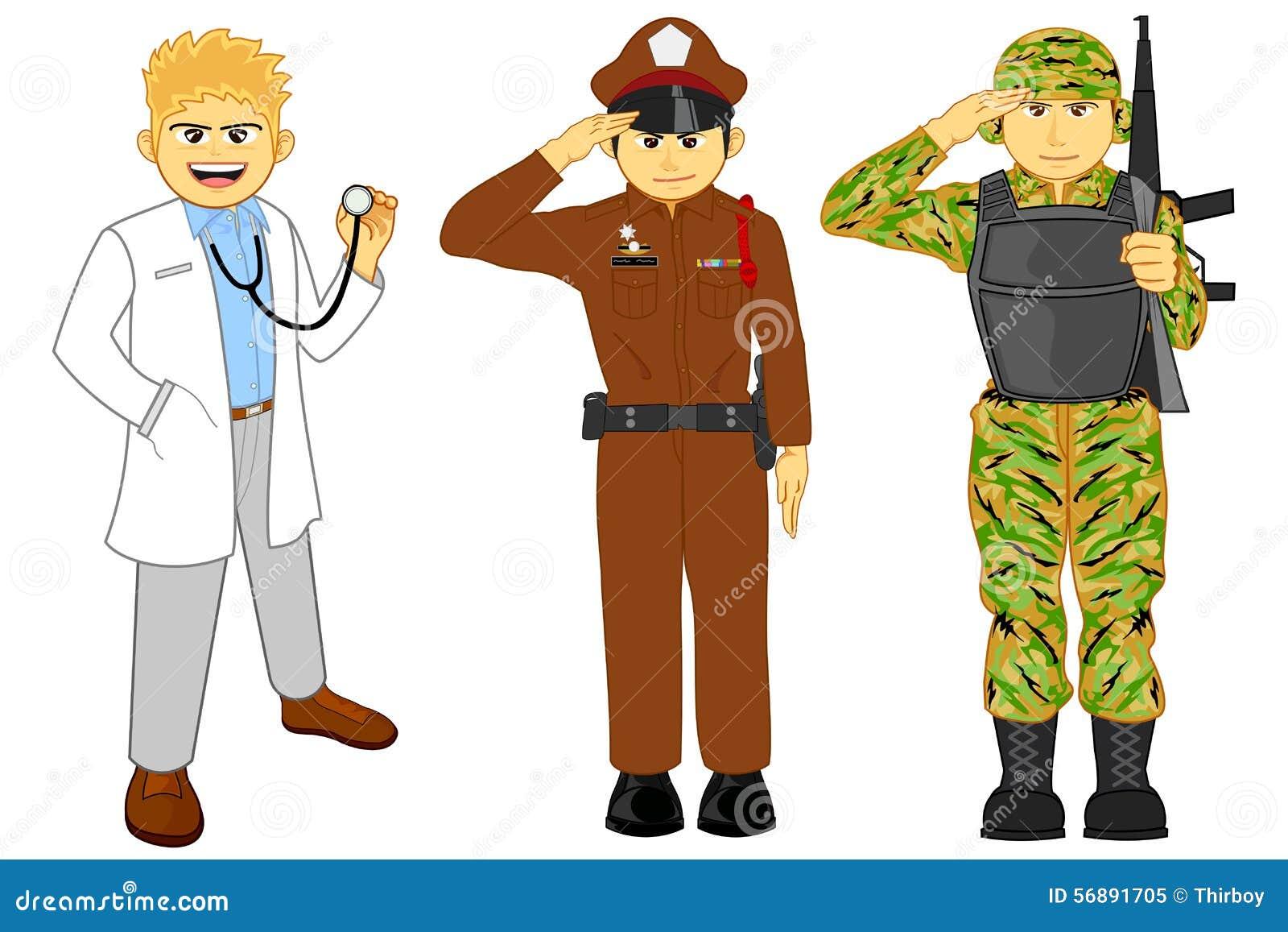 Medico, polizia e carriera militare