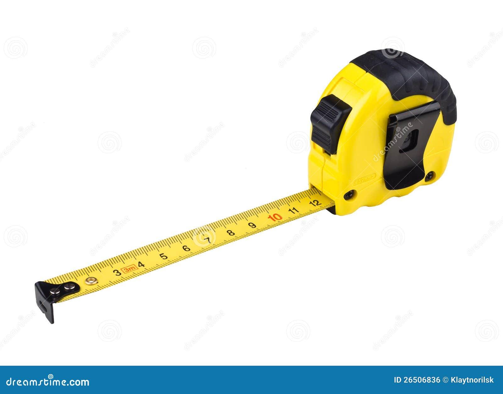 Medida de fita amarela