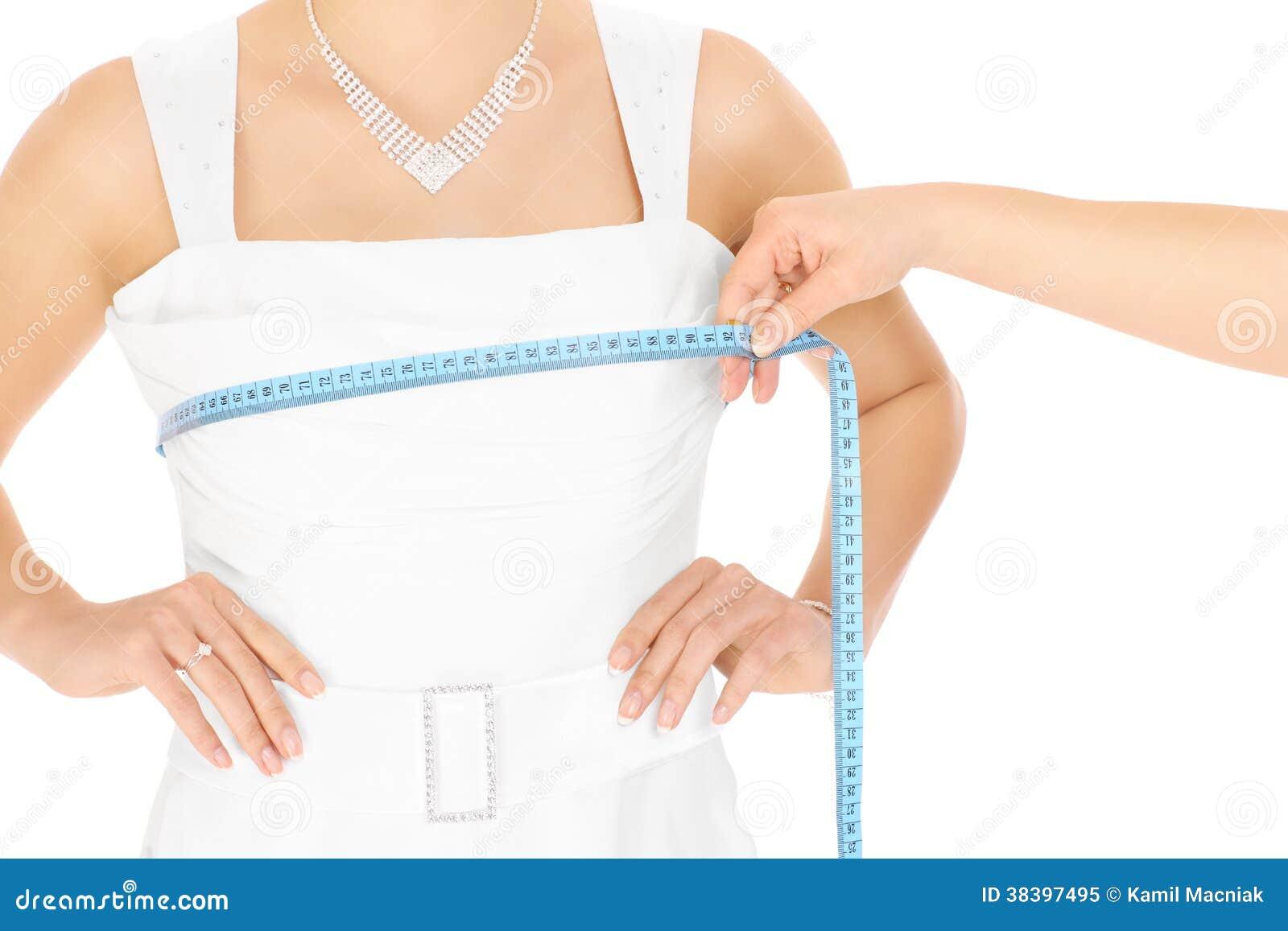 Medida do vestido de casamento