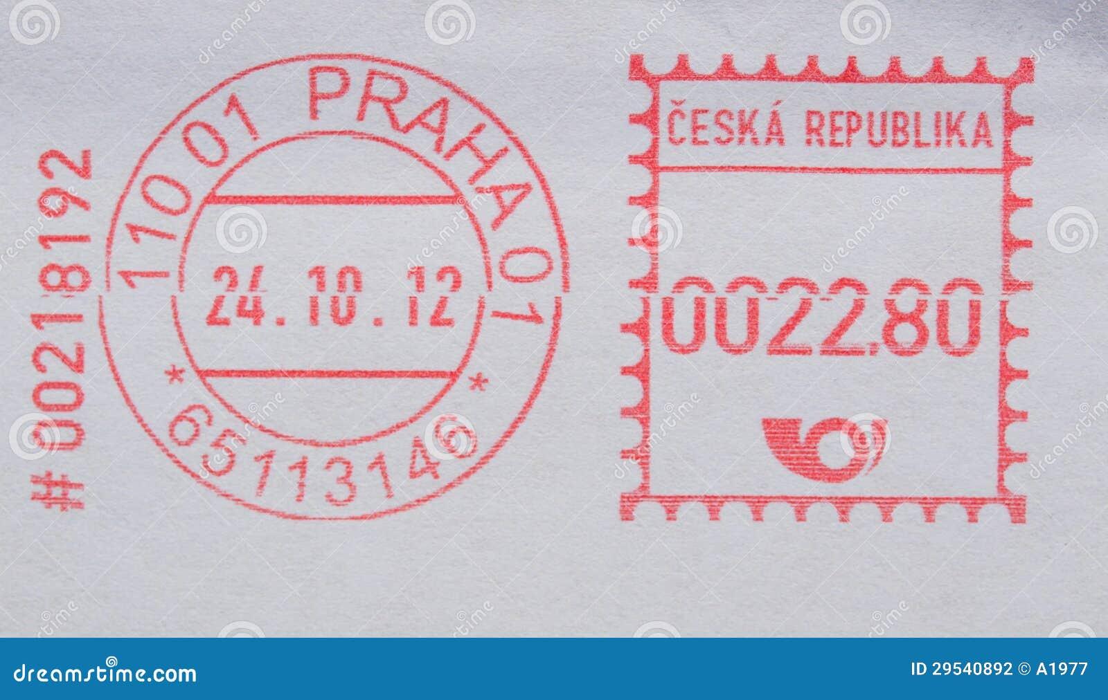 Medidor de porte postal de Praga