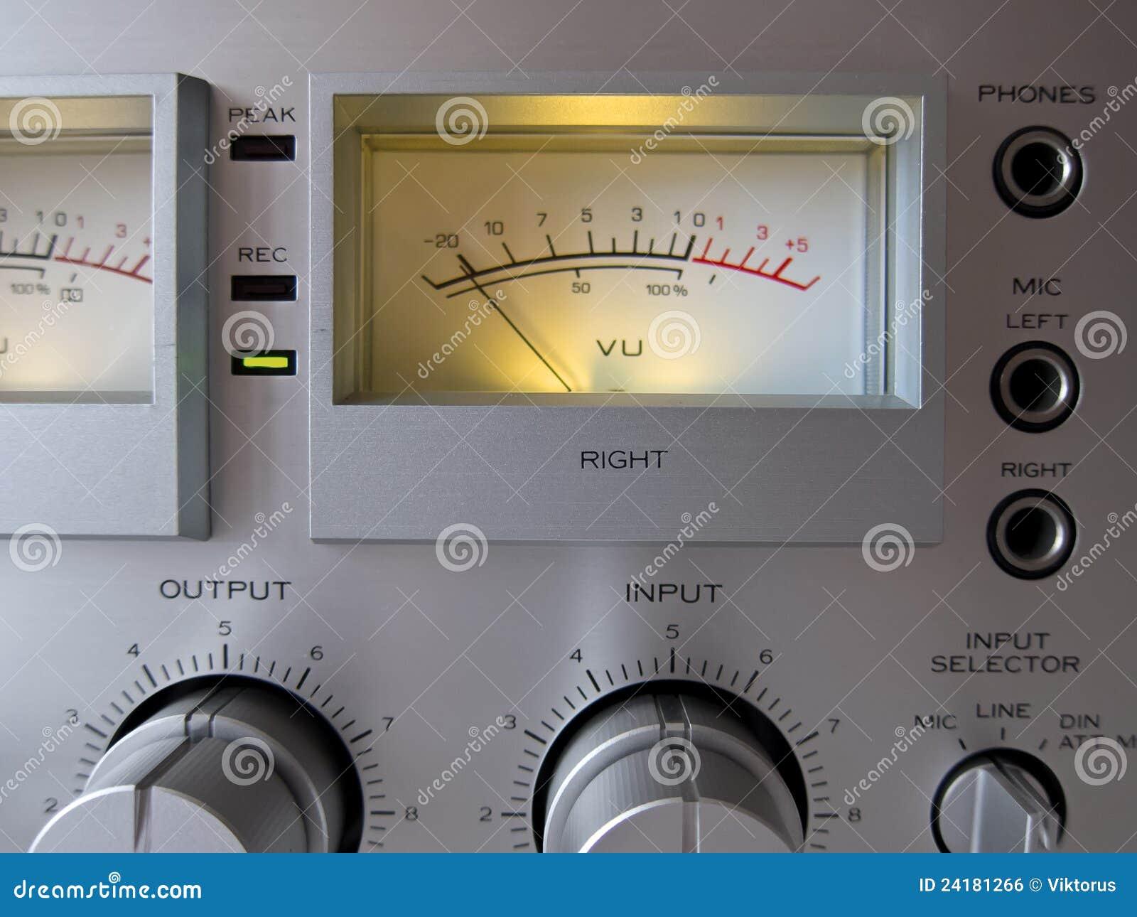 Medidor do VU do sinal análogo