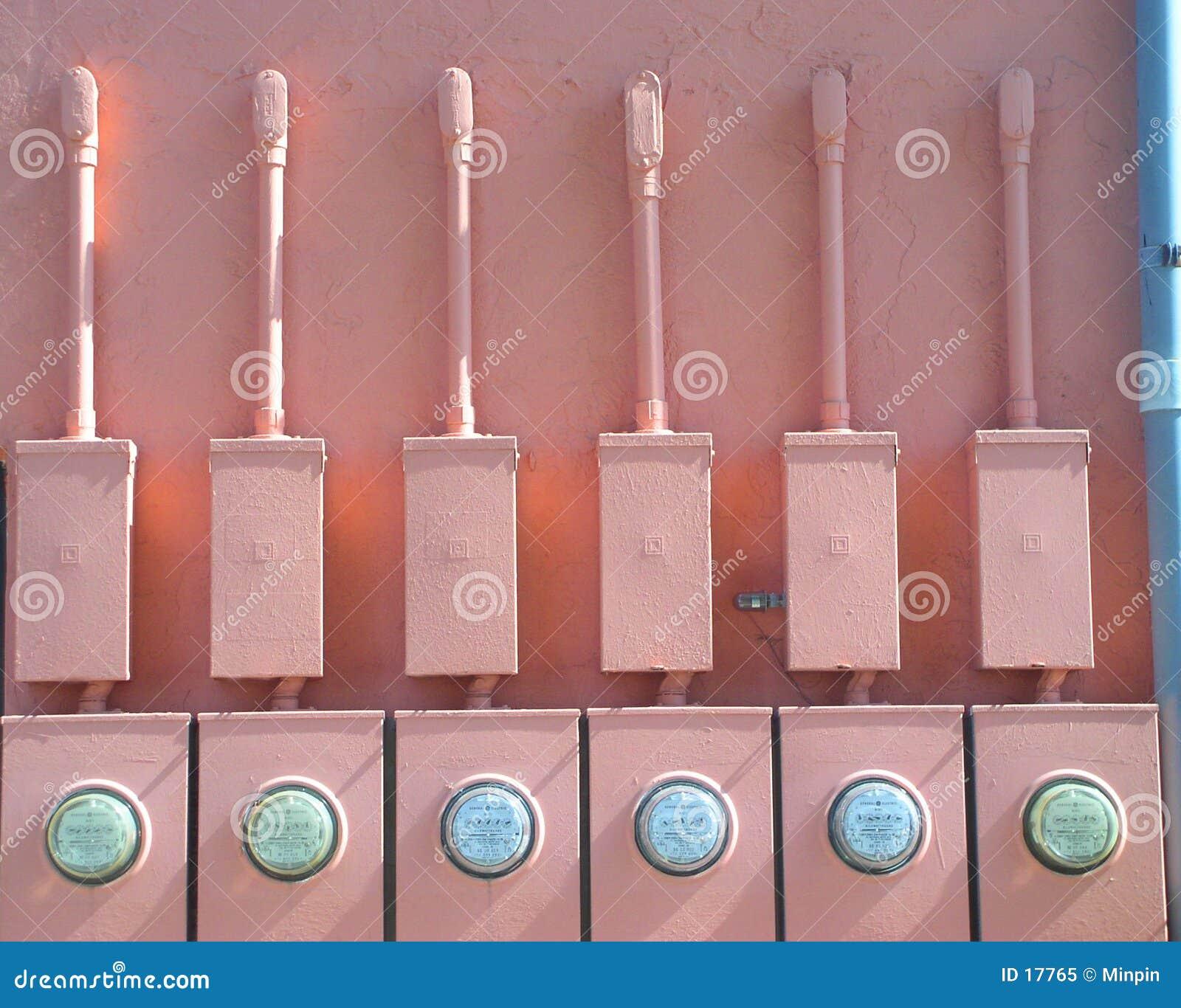 Medidores elétricos cómicos