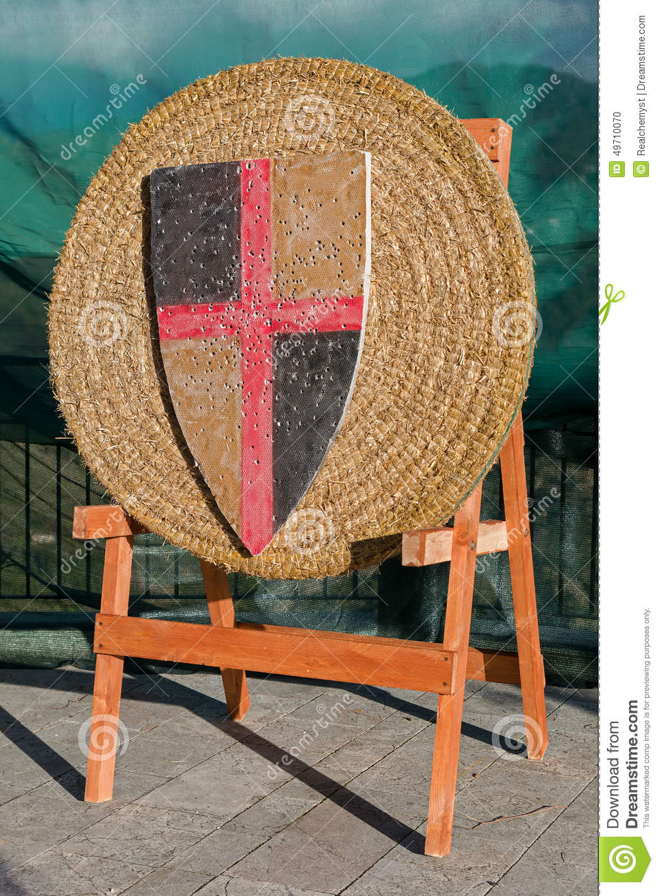 Medieval Archery Target Stock Photo Image 49710070