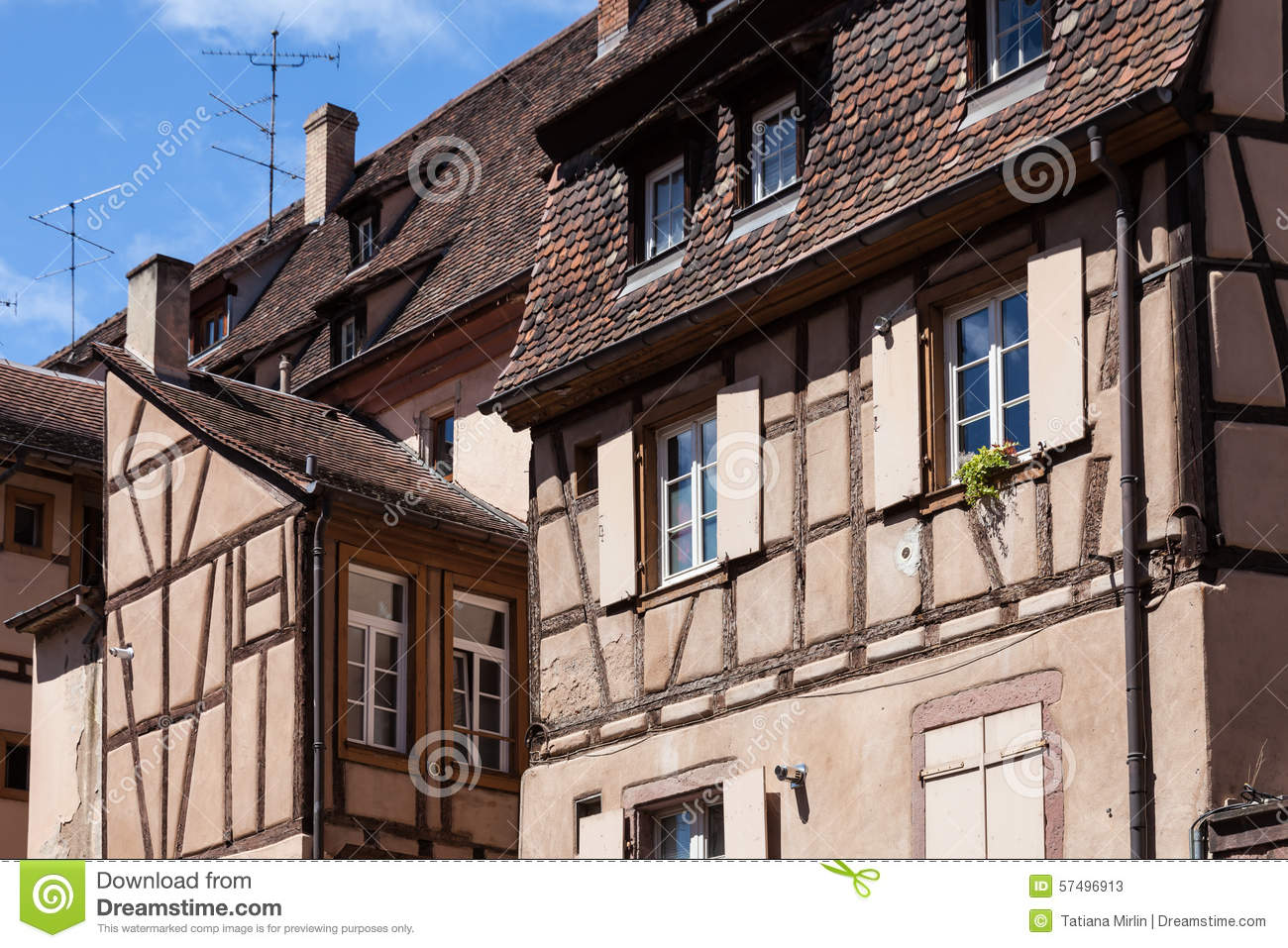 medieval architecture of colmar stock photo image 57496913. Black Bedroom Furniture Sets. Home Design Ideas