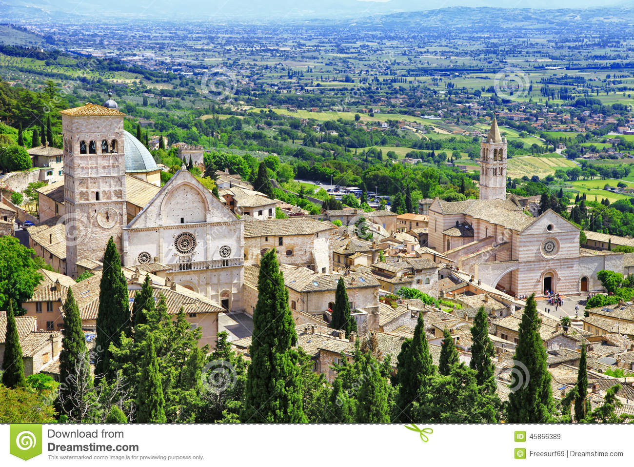 Medieval Assisi, Umbria , Italy Stock Photo - Image: 45866389