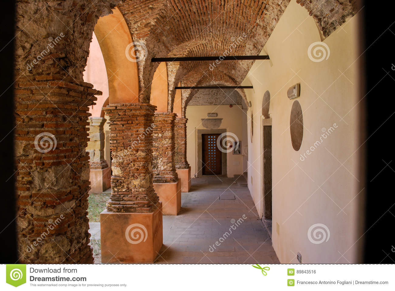 The Medieval Augustine Convent In Forza D`Agro. Sicily Editorial ... 156817c926b91