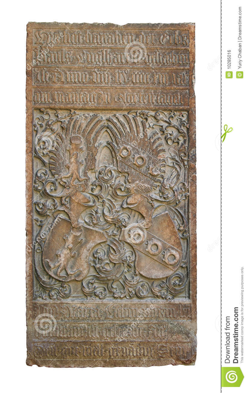 Medieval Bas Relief With Alchemy Symbols Stock Photo Image Of