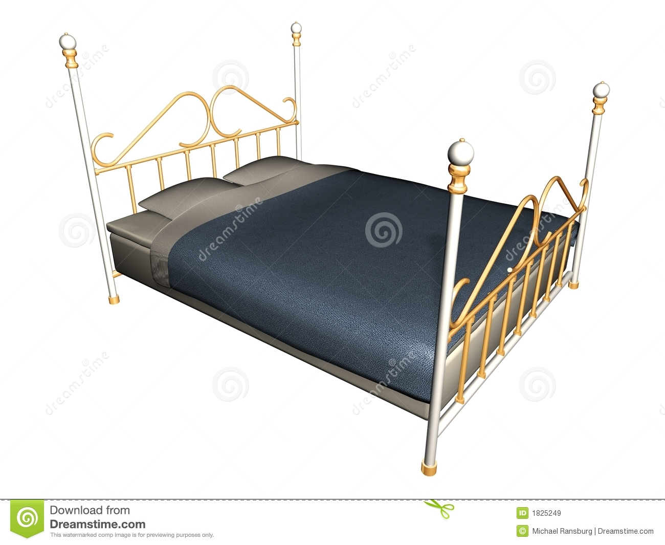 medieval bed royalty free stock images image 1825249