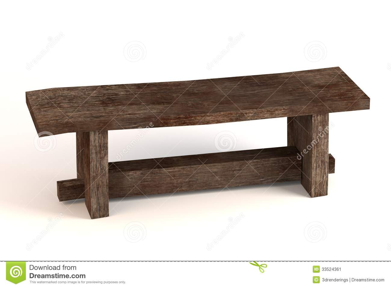 Medieval Bench Stock Image Image 33524361