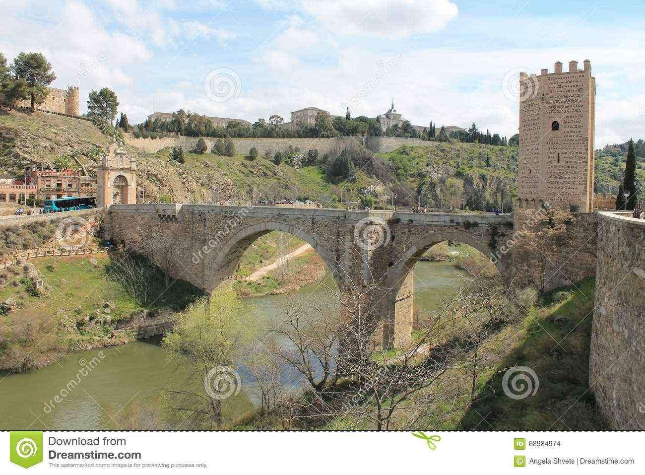 Medieval bridge in Toledo. Spain.