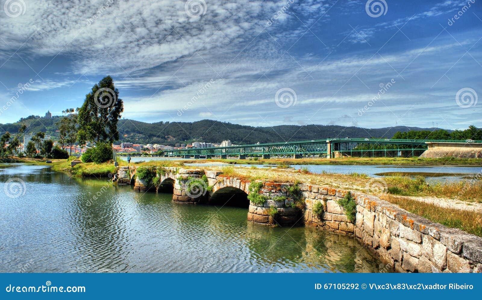 Medieval bridge in Viana do Castelo