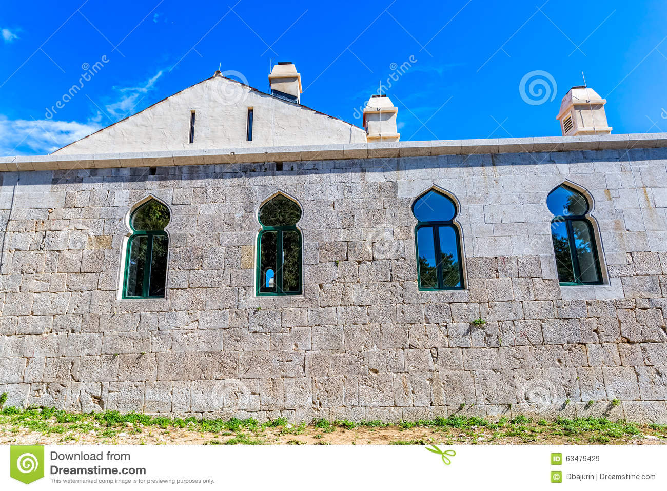 Medieval Building Maskovica Han In Croatia Stock Photo ...