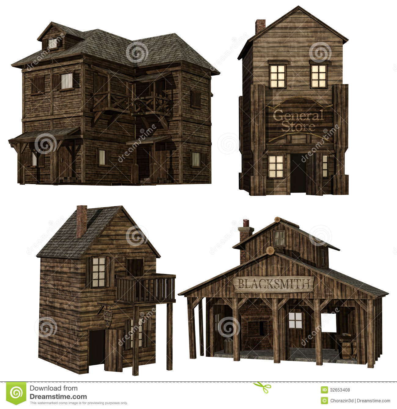 Medieval Buildings Royalty Free Stock Photos Image 32653408
