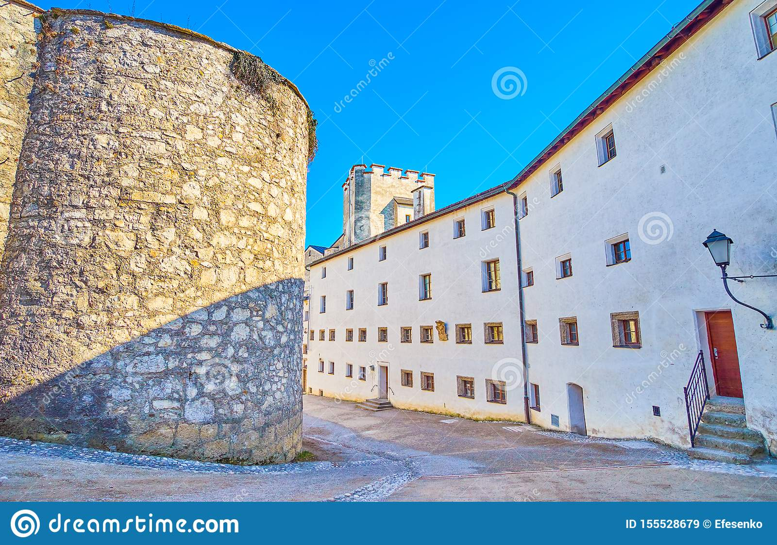 The medieval buildings of Hohensalzburg Citadel, Salzburg, Austria