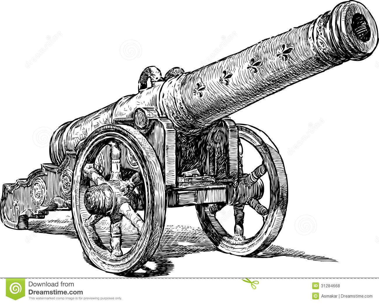 Medieval Cannon Royalty Free Stock Photos - Image: 31284668
