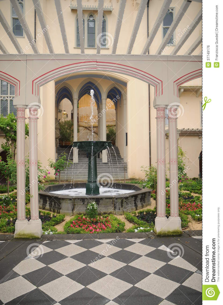Medieval Castle Garden Royalty Free Stock Image Image