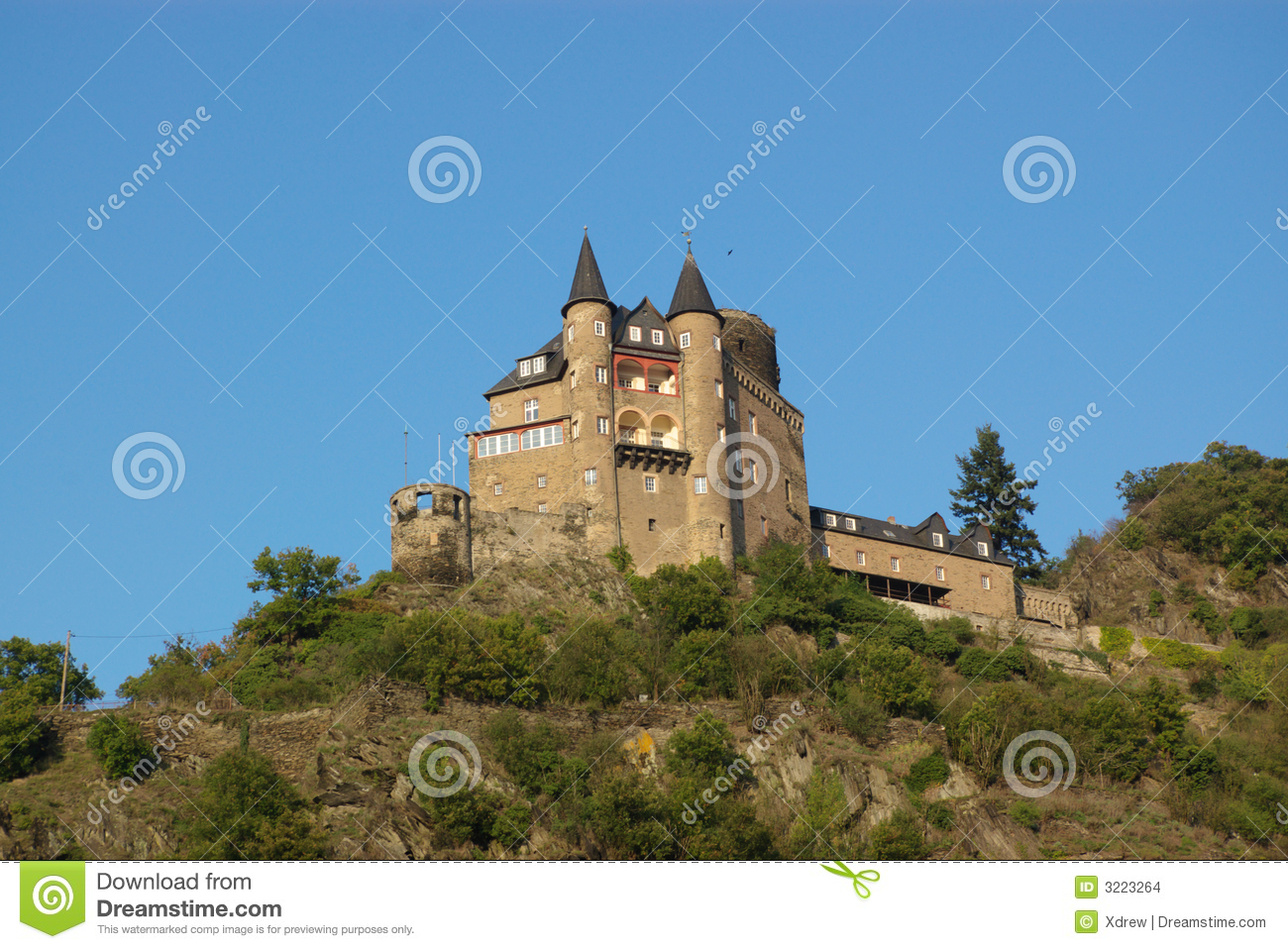 Medieval Castle On Hill Stock Images Image 3223264