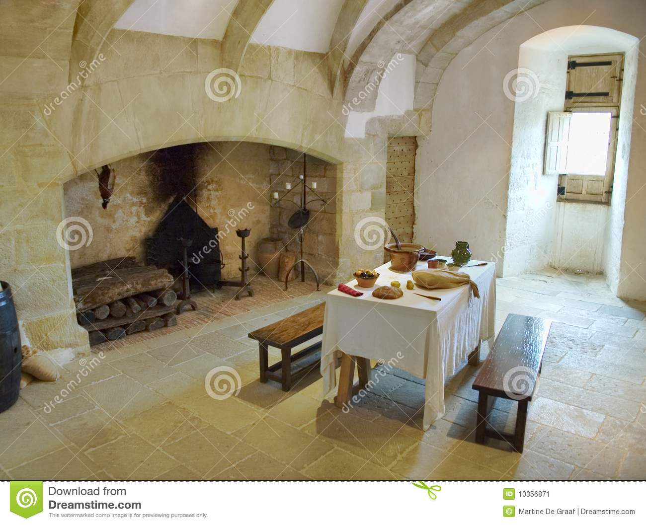 Medieval Castle Kitchen Stock Image Of Europe
