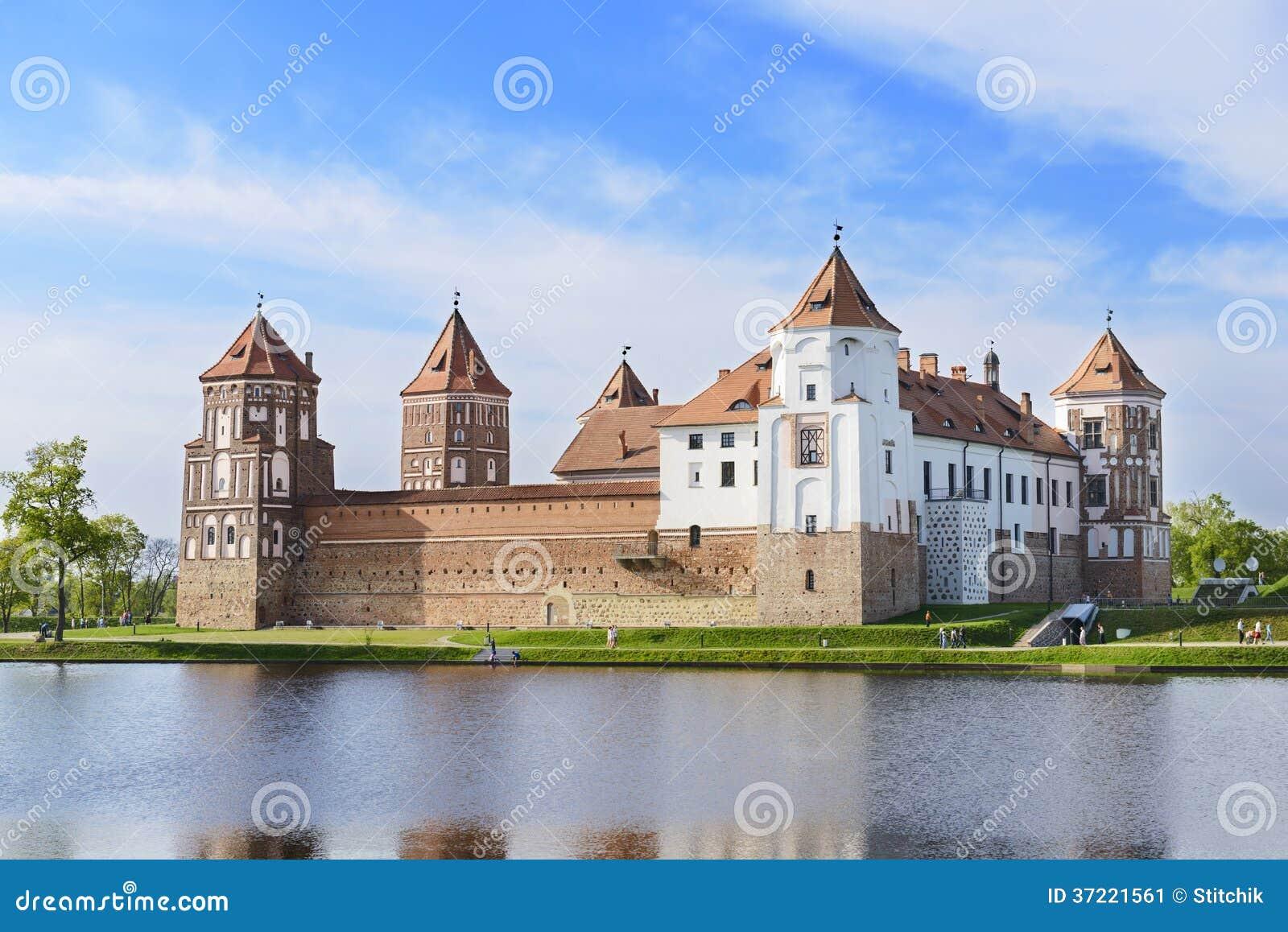 Medieval Castle Mir. Grodno Region. Belarus Stock Image ...