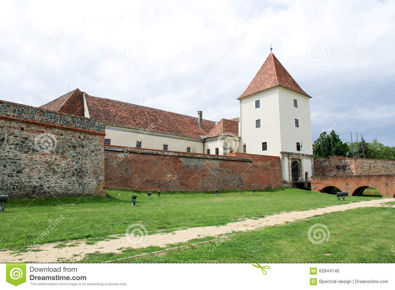 Sarvar Hungary  City pictures : Medieval castle in Sarvar, Hungary, Europe.