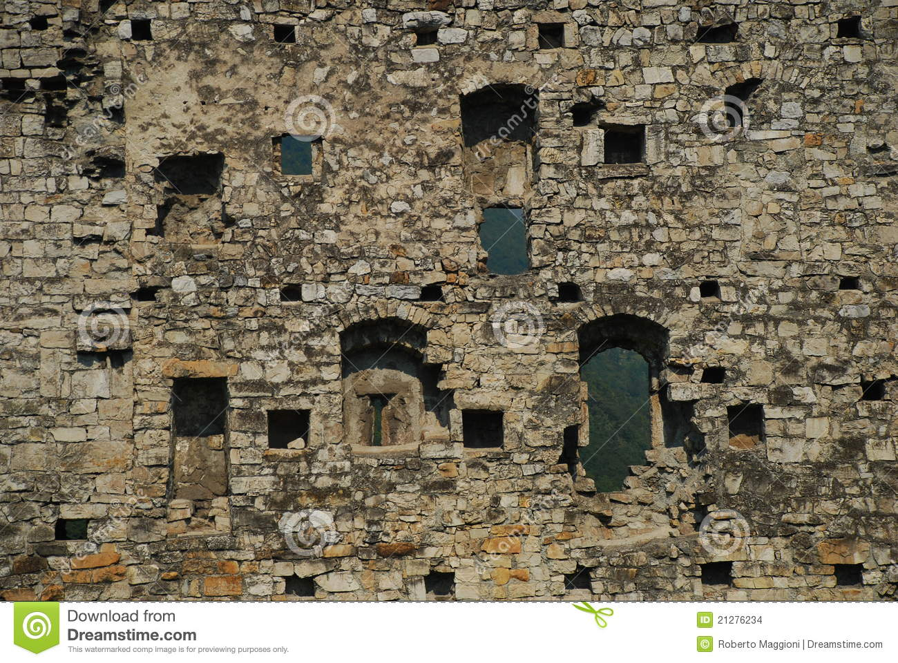 Medieval castle wall
