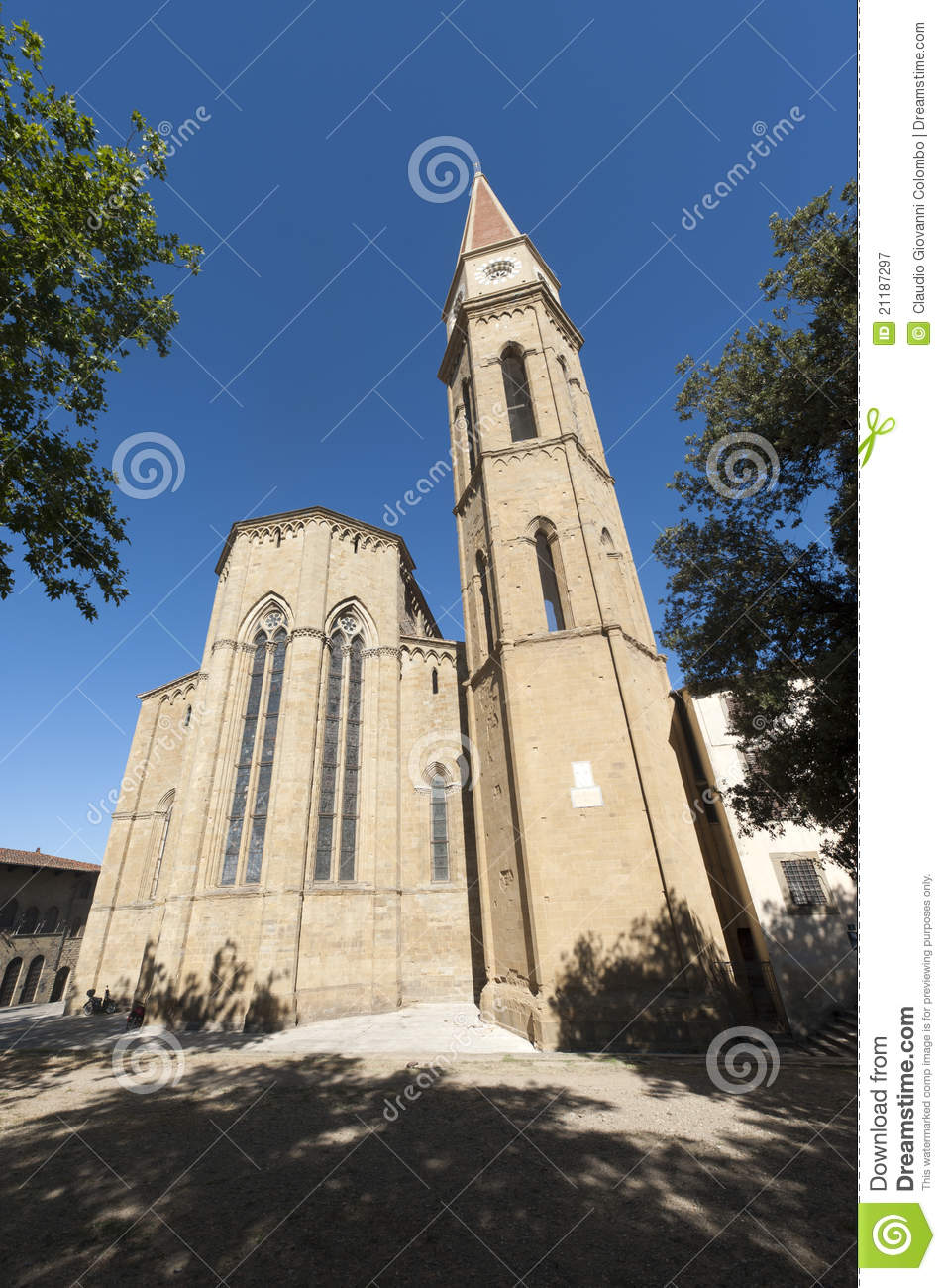 Medieval cathedral in Arezzo (Tuscany)