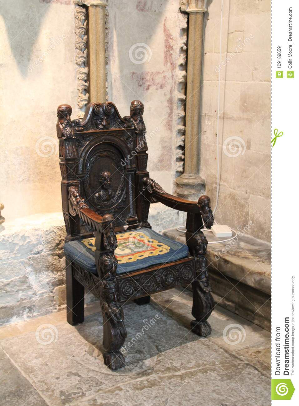 Medieval chair & Medieval chair stock image. Image of nobody cathedral - 109189659
