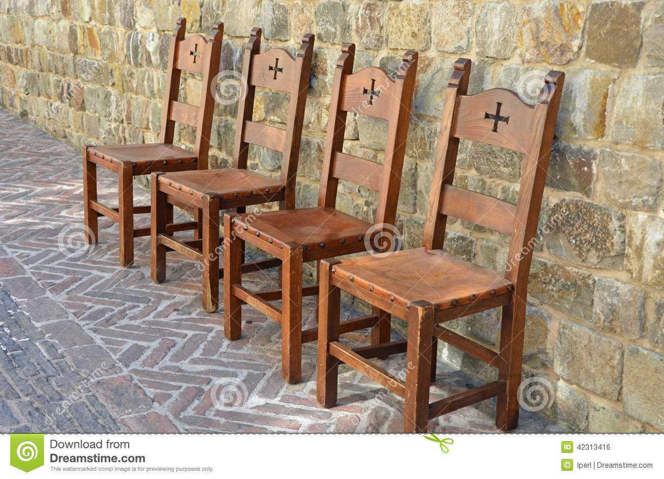 Medieval Chairs On Brick Patio Stock Photo Image 42313416 : medieval chairs brick patio style 42313416 from www.dreamstime.com size 1300 x 937 jpeg 232kB