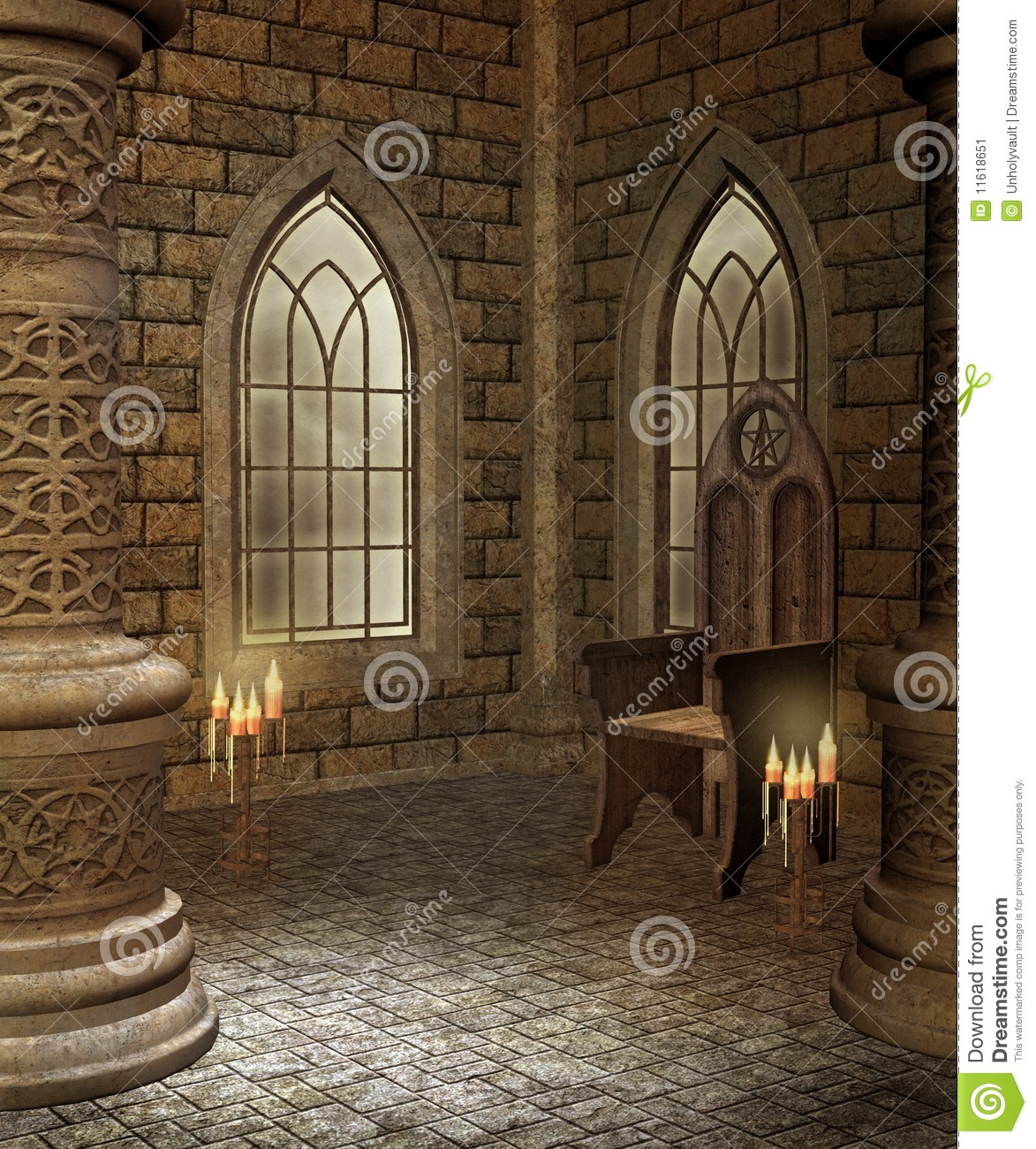 Medieval Chamber 2 Stock Image Image 11618651