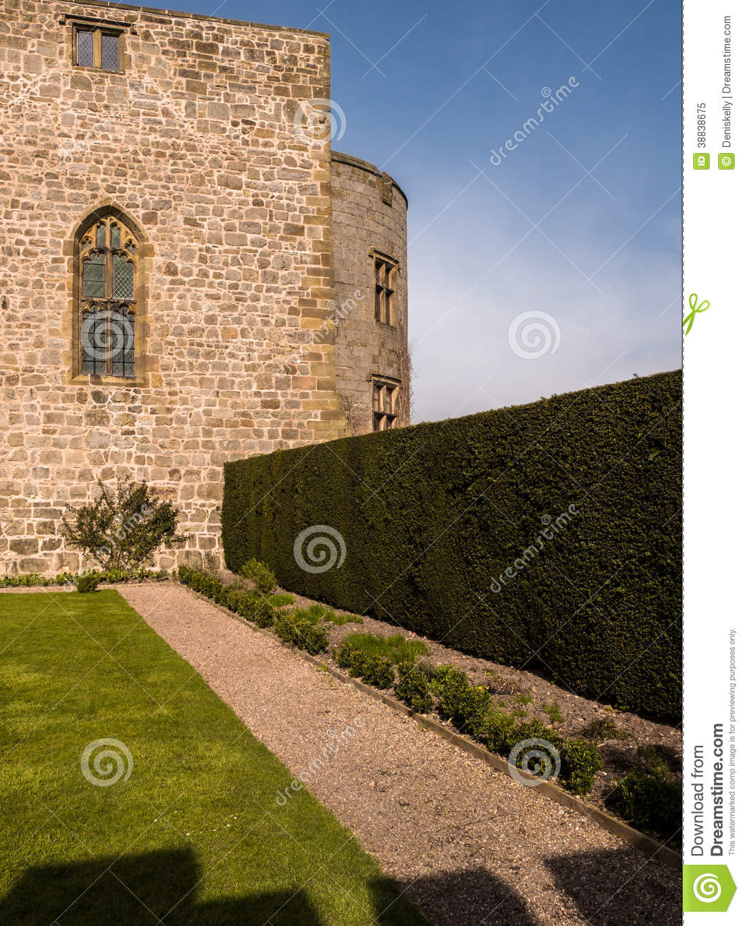 Medieval Castle And Stately Home Garden Stock Image - Image of ...