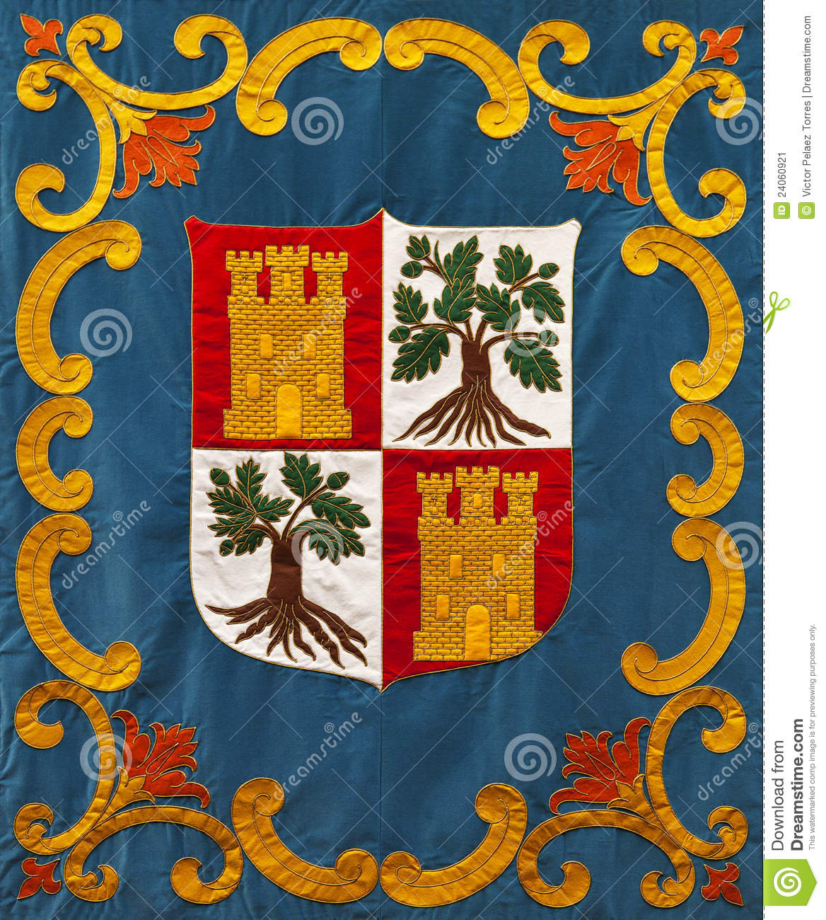 Medieval Coat Of Arms Embroidery Stock Image Image 24060921