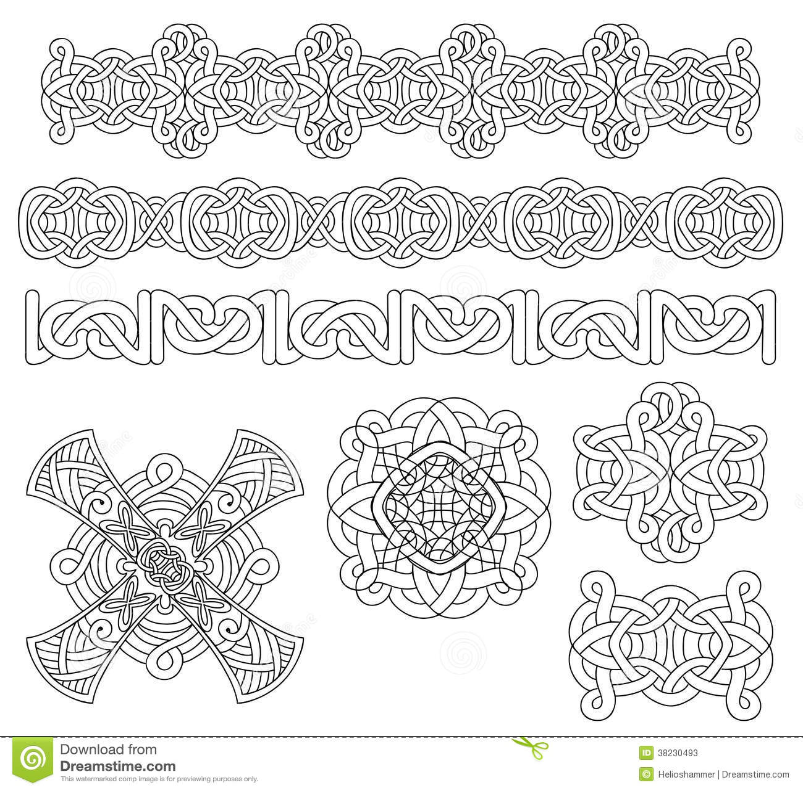 Medieval decoration set stock vector. Illustration of invitations