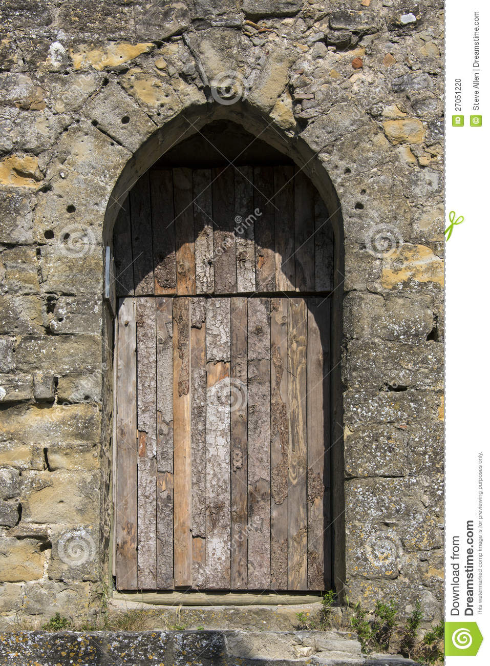 Medieval Door Carcassonne France Stock Photo Image