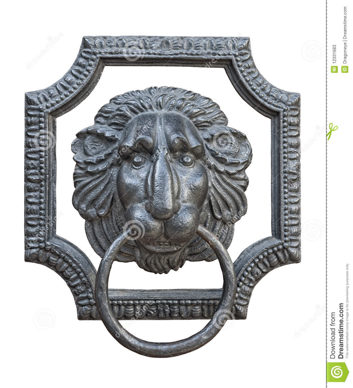 Medieval Door Knocker Cutout Stock Image Image Of Ring