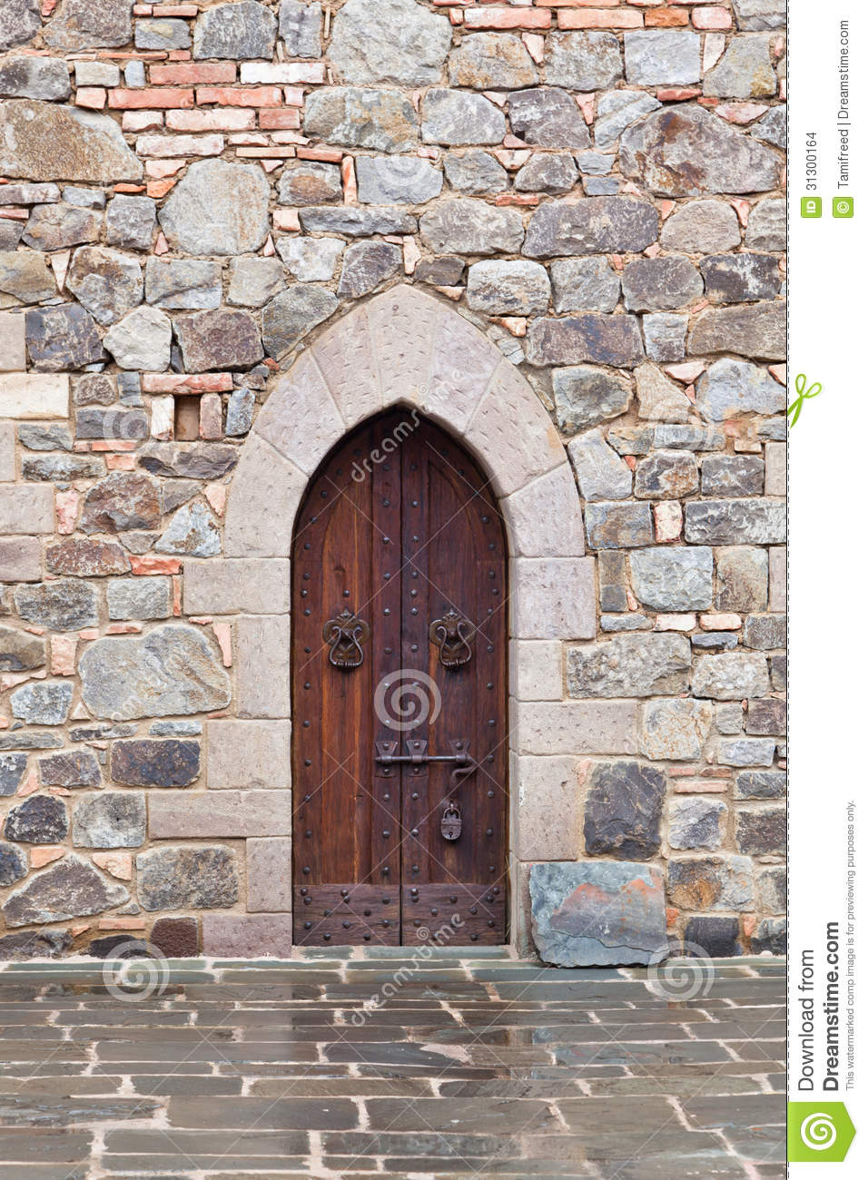 Medieval Door With Lock Stock Images Image 31300164