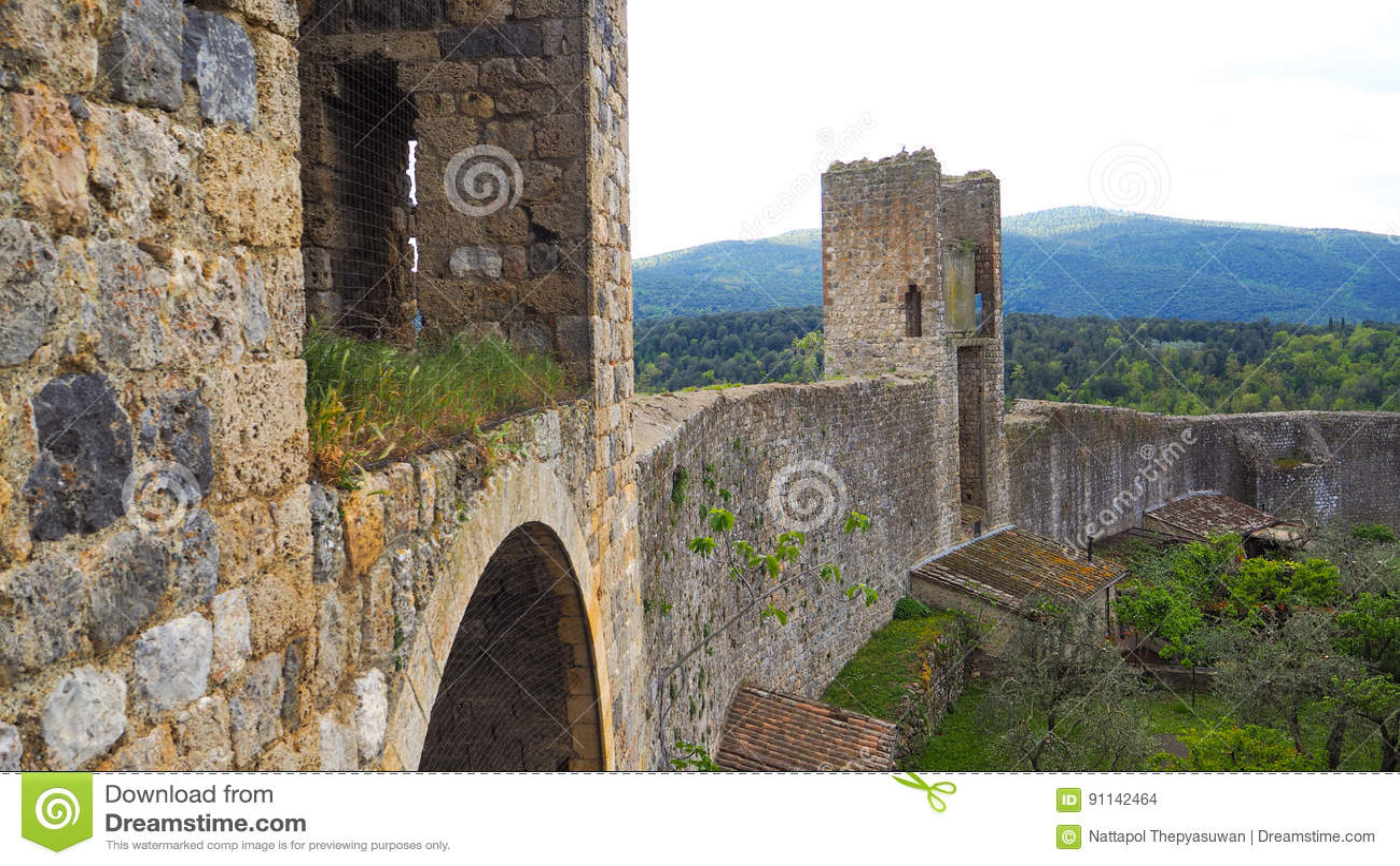 Medieval emparedado de Monteriggioni
