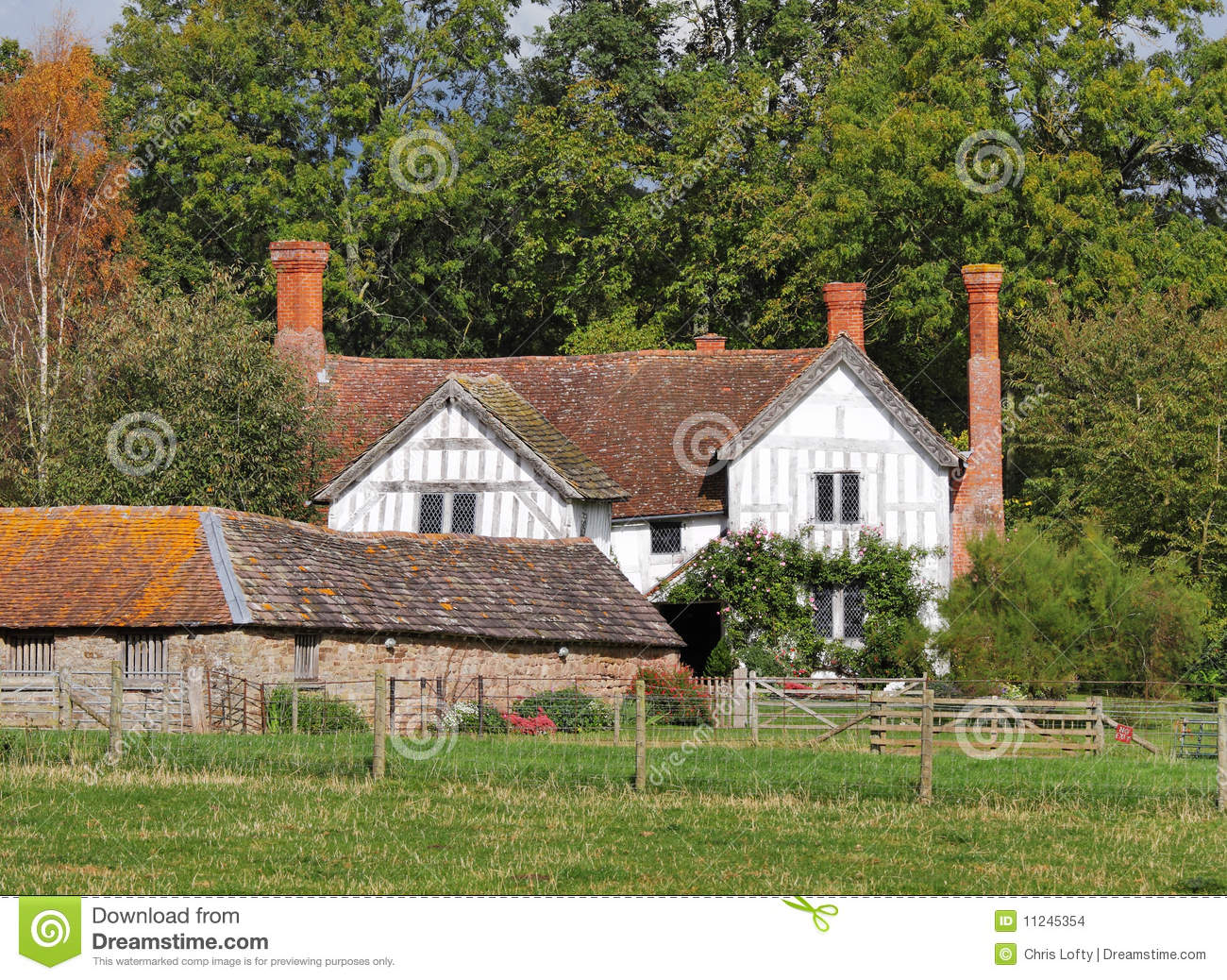 Medieval english manor farmhouse stock photo image 11245354 for Manor farm house plan