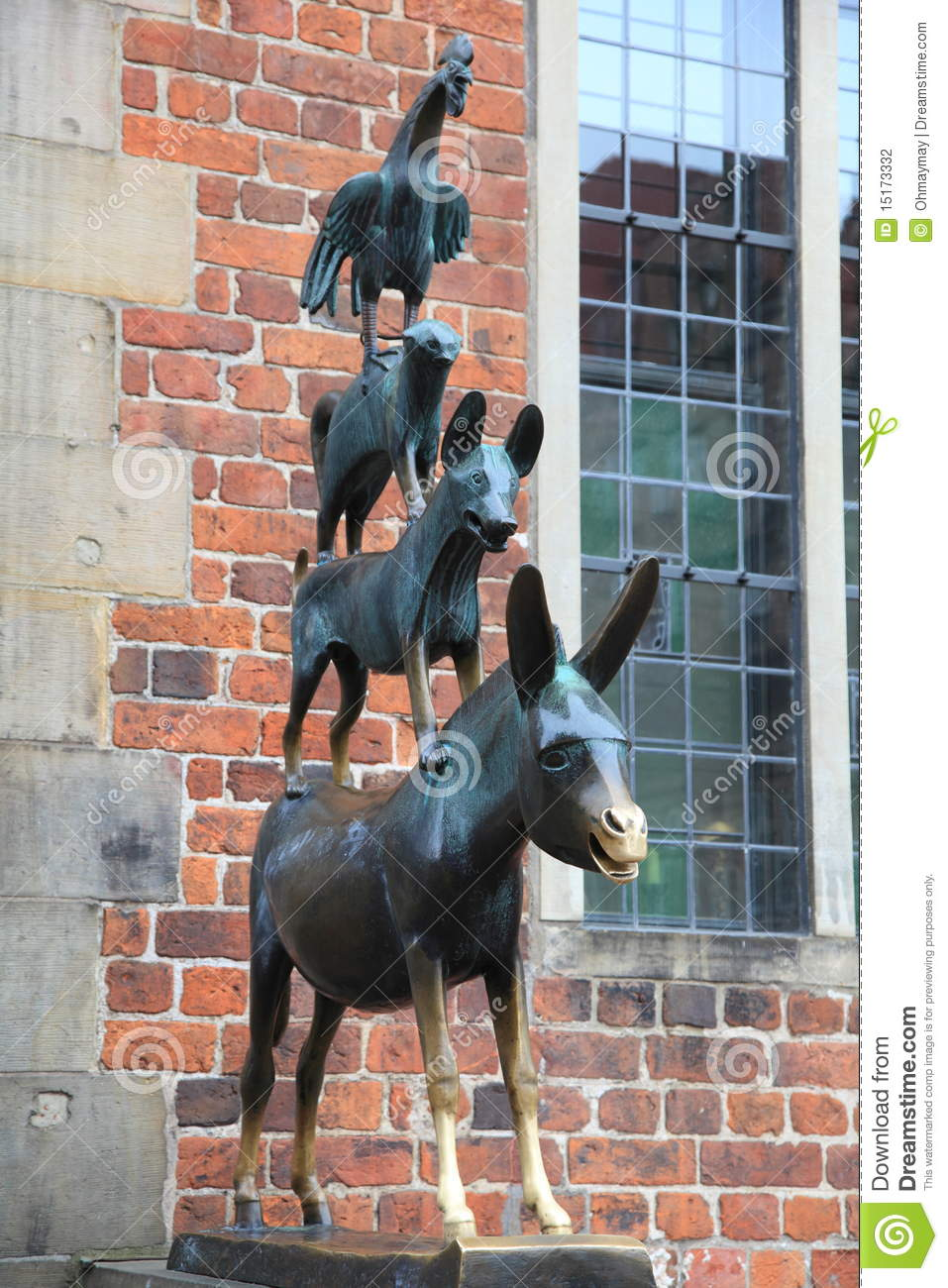 medieval fairy tale statue in bremen germany stock photo