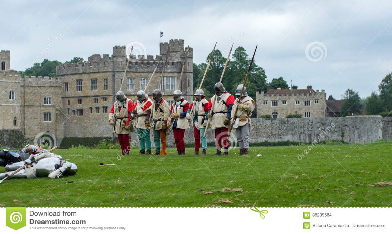 Medieval Foot Soldiers With Spears